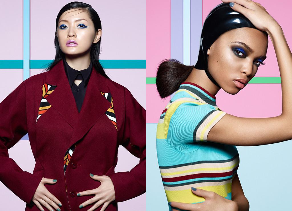 Hilda (LEFT) wears: Shirt: Kenzo, Jacket: Issey Miyake. Samantha (RIGHT) wears: Dress: DKNY, Skull Cap: Atsuko Kudo