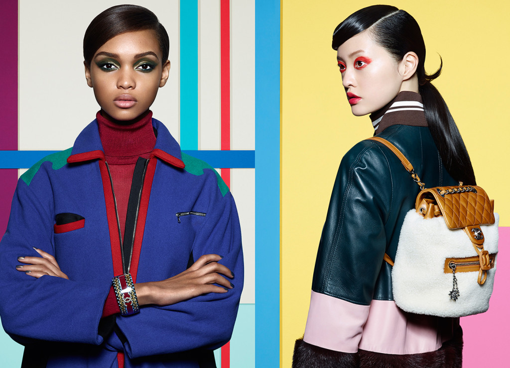 Samantha (LEFT) wears: Turtleneck: Raoul, Jacket: Miuniku, Bracelet: Chanel. Hilda (RIGHT) wears: Coat: Mother of Pearl, Bag: Chanel